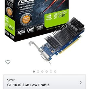 Asus Nvidia GT 1030 Silent Low Profile GPU Graphics Card 2gb Ddr5 for Sale in Stockton, CA
