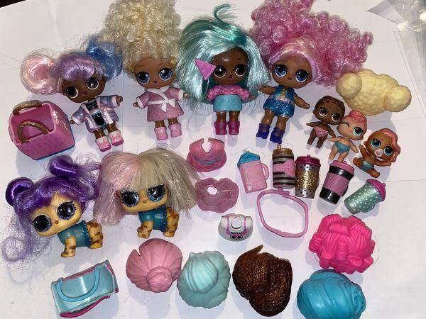 Lol Dolls lot of 8