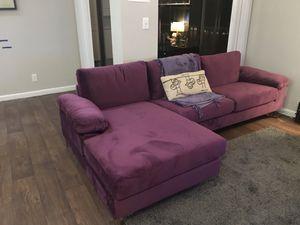 Velvet Sectional Couch for Sale in Delray Beach, FL