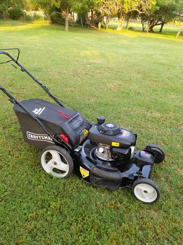 Very strong Craftsman 6.75 horsepower self-propelled lawn mower with Honda engine works absolutely great guaranteed to turn on on first pull
