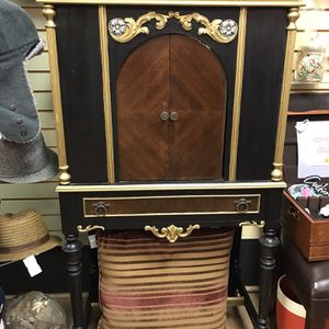 1920s Refurbished Radio Wooden Case Embellished And Repainted Storage, Display, Collectible for Sale in Sterling, VA