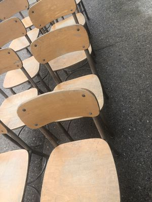-2 vintage student chairs solid wood made in Grand Rapids Michigan for Sale in South Bend, IN