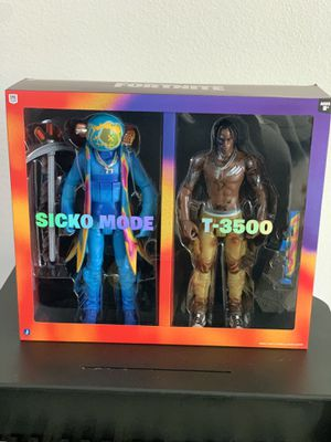 "Travis Scott Cactus Jack Fortnite 12"" Action Figure Duo Set for Sale in Los Angeles, CA"