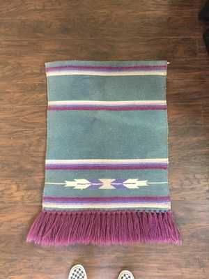 Maroon / Green Kilim Tapestry Wall Art for Sale in San Diego, CA