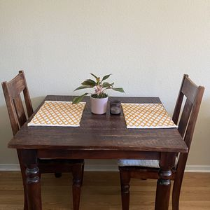 Sturdy Wooden Dining Room Table with 2 chairs for Sale in San Diego, CA