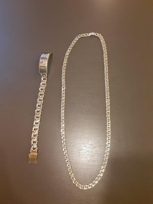 10k gold chain and bracelet for Sale in Tampa, FL