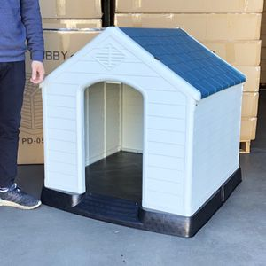 "New in box $110 Plastic Dog House Large Size Pet Indoor Outdoor All Weather Shelter Cage Kennel 36x34x38"" for Sale in South El Monte, CA"