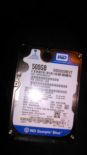500 gig laptop hard drive for Sale in Fresno, CA