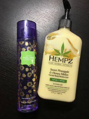 Hempz lotion and Bath n Body Works fragrance mist for Sale in La Mesa, CA