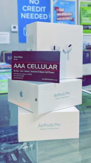 Apple AirPods Pro - Brand New In Box / Like New! Genuine Original - Works with iPhone 12 Pro 11 max XS Max XR for Sale in Arlington, TX