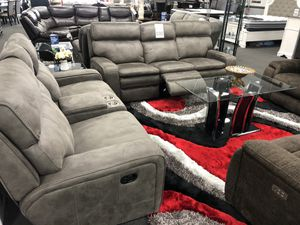 Gray Sofa & Love Seat Triple Reclining for Sale in Fresno, CA