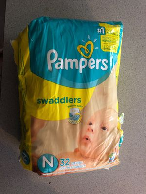Pampers newborn swaddlers for Sale in Safety Harbor, FL