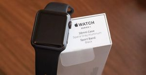 Apple Watch Series 1 38mm Aluminum Black Sport Band for Sale in Tampa, FL