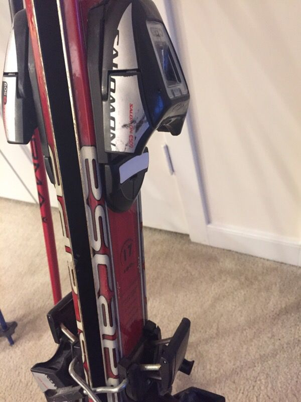 Great condition K2 skis (160 and 167) with Salomon bindings. Poles and boots