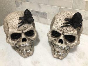 Ceramic Skeleton head halloween decorations for Sale in Miami, FL