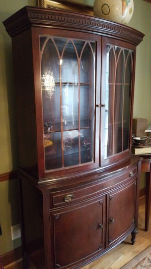 Beautiful Mahogany China Cabinet with matching 2 drawer Butler for Sale in Tucker, GA