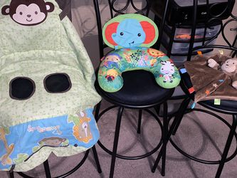 Baby Lot - Safari Cart Cover, Monkey Taggies, Fisher Price Tummy Time Elephant Safari for Sale in Lakeland,  FL