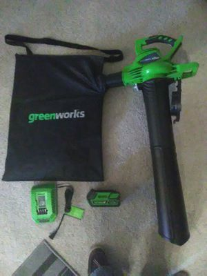 Green works leaf blower/collector for Sale in Phoenix, AZ