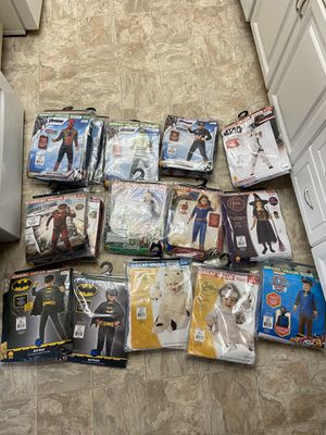 BOYS AND GIRLS HALLOWEEN COSTUMES (NEW, NEVER WORN OR OPENED) for Sale in Upland, CA