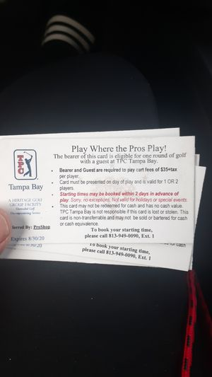 Golf ticket for Sale in Tampa, FL