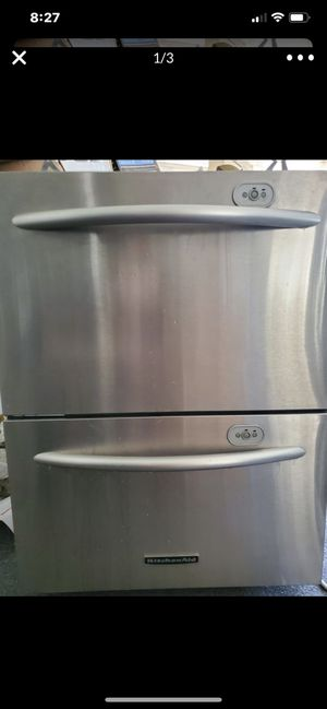 Kitchenaid 2 drawer dishwasher $250 cash only you pick up for Sale in Fresno, CA