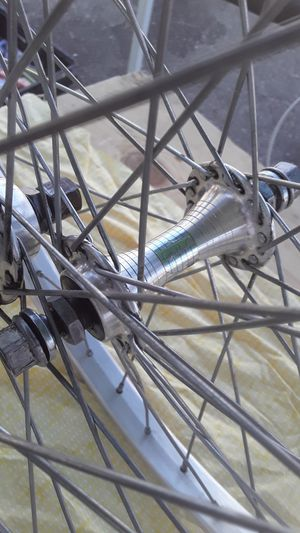 Gt bmx bike 20 inch wheel set race lace hubs sealed mechanism very clean and straight hubs have clean gt ribbon decal 100 takes for Sale in Sylmar, CA