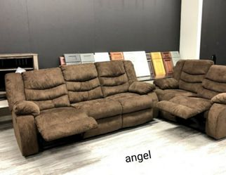 🎁BRAND NEW 🎇SPECIAL] Tulen Chocolate Reclining Living Room Set 7 for Sale in Laurel,  MD