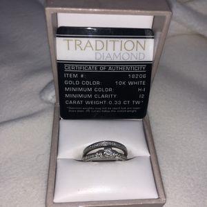 Dual engagement/wedding rings size 7 for Sale in Salt Lake City, UT