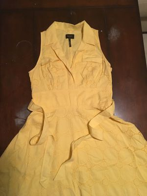 Cute polka dot yellow classy dress size 10 for Sale in San Francisco, CA