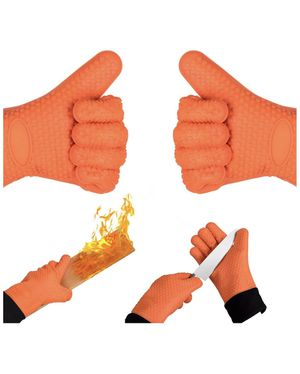 Homily Oven Mitts, Heat Resistant Gloves Wrist Protection Quilted Cotton Lining, Non-Slip Kitchen Gloves for Cooking, Baking, BBQ Grilling,1 Pair (2 for Sale in Quincy, MA