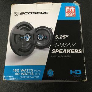 Scorche 5.25 Inch 4 - Way Speakers 160 Watt for Sale in Port St. Lucie, FL