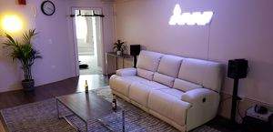 Sofa with adjustable seat/back, Murum beige READY FOR PICKUP for Sale in Lombard, IL