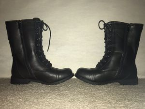 Women's black combat boots for Sale in Alexandria, VA