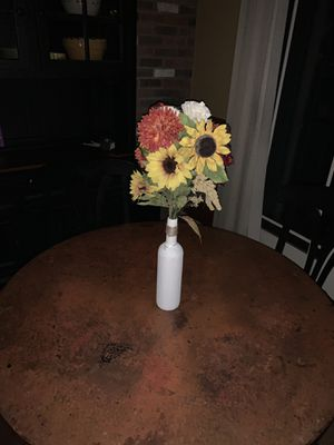 Flowers in a Wine glass with a Rustic touch centerpiece for Sale in Wathena, KS