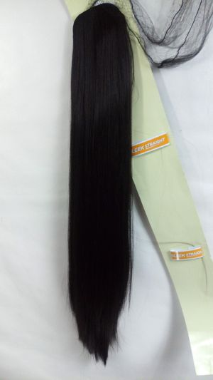 Synthetic Hair Piece Extension Ponytail/ Extra long / brand new /$30 PICK UP PRICE/ nueva color negra for Sale in Fullerton, CA