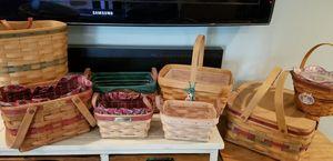 7 Longaberger baskets. for Sale in Bethel, CT
