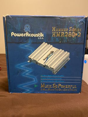 Rare Power Acoustik Hammer Series HMR 280.2 Amplifier in Original Box for Sale in Los Angeles, CA