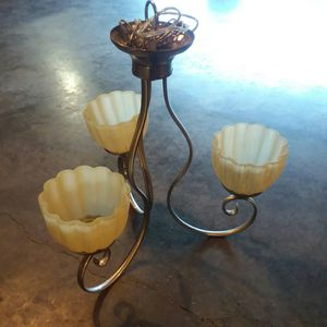 Stainless Steal Light fixture for Sale in Brule, WI