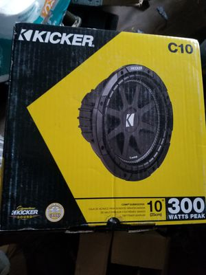 kicker c10 $55 each with warranty for Sale in Fort Worth, TX
