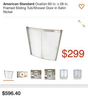 American standard ovation 60x58 framed sliding tub/ shower door for Sale in Bakersfield, CA