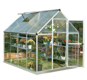 Palram HG5508PH Hybrid Hobby Greenhouse, 6' x 8', Silver, Plant Hangers Included for Sale in Los Angeles, CA
