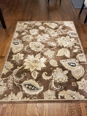 Two rugs for sale - chocolate and cream for Sale in Vienna, VA