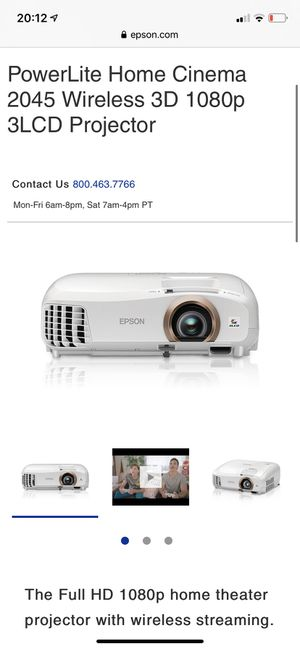 Epson 2045 Projector with Chromecast on the wall! for Sale in West Lafayette, IN