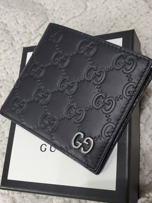💥NWT Gucci Wallet Black Guccissima Bi-Fold GG for Sale in Queens, NY