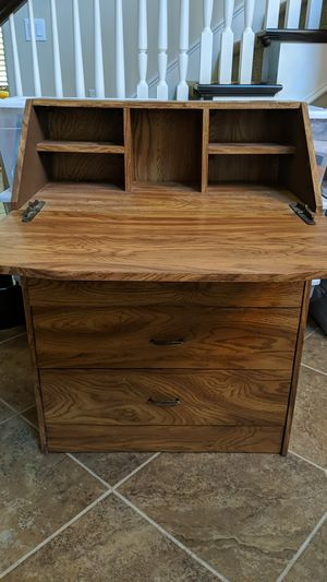 Desk - vintage style wooden desk with hutch for Sale in San Diego, CA