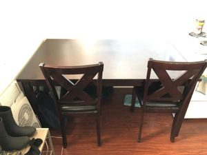 6' Dining table with 4 chairs and a bench seat - seats 6 for Sale in Alameda, CA