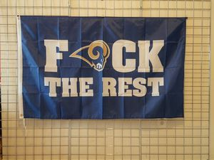 """LOS ANGELES RAMS 3FTX5FT NFL LOGO """"F THE REST"""" FLAG BRAND NEW UNUSED IN A SEALED PACKAGE *NEW🔥🔥 for Sale in Manassas, VA"""