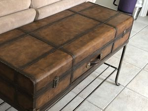 Vintage look meets industrial. Sofa table and coffee table! for Sale in Orlando, FL