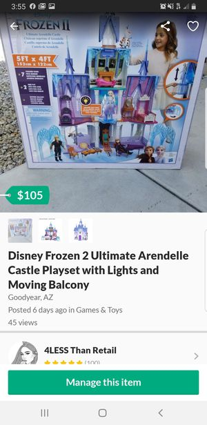 BRAND NEW! Disney Frozen 2 Ultimate Arendelle Castle Playset with Lights and Moving Balcony for Sale in Goodyear, AZ