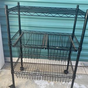 Metal Storage Shelf With Drawers 23x13x30 for Sale in Long Beach, CA